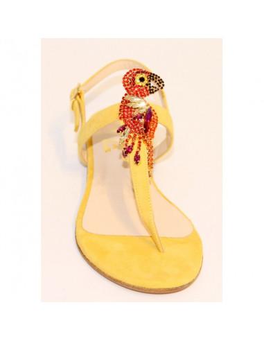 Sandali artigianali gioiello Parrot