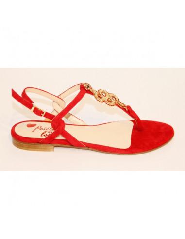 Sandali artigianali gioiello Rossella